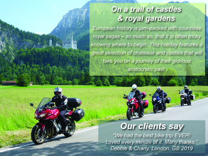 Motorcycle rental and tour