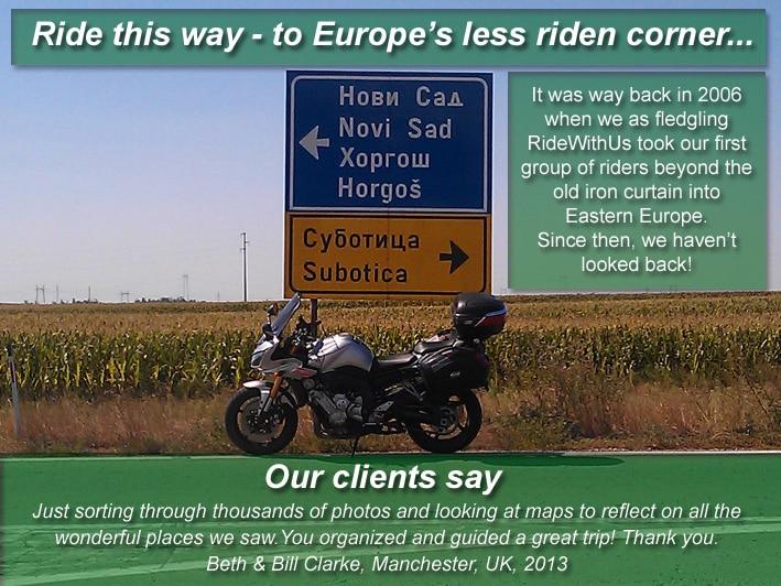Eastern Europe motorcycle tour