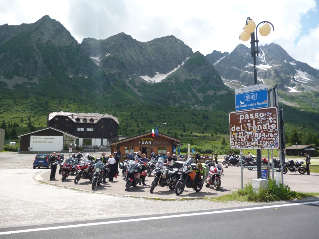 motorcycle vacations to Europe - Tonale pass