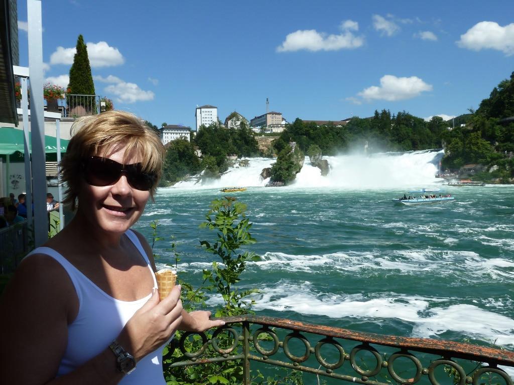 self guided motorcycle tours to Europe, Rhine waterfalls in Schaffhausen