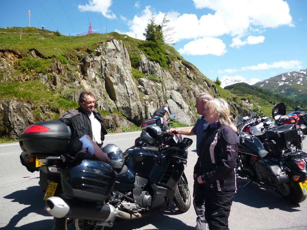 motorcycle vacations to Europe, Alps, Arlberg pass