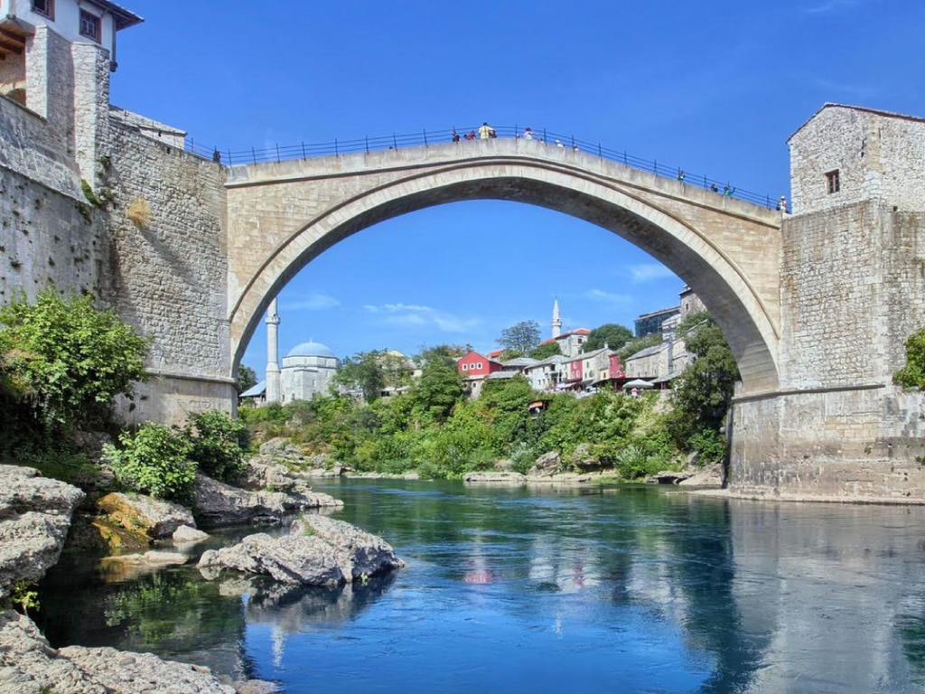 self guided motorcycle tours to Europe, Bosnia, Mostar tour